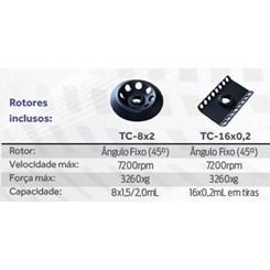 Centrífuga Para Microtubos de 0,2ml-0,5ml-1,5ml e 2,0ml Velocidade Fixa 7200rpm