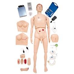 Manequim Bissexual Simulador para Treinamento de Habilidades em Enfermagem e ACLS