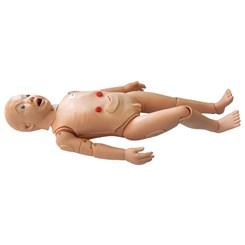 Manequim Infantil Bissexual Simulador para Treino de Enfermagem