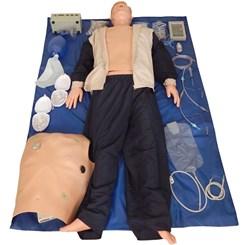 Manequim Simulador para Treinamento RCP ECG DEA e Intubação
