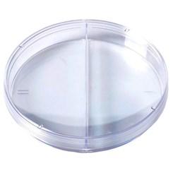 Placa De Petri 90x15mm Descartável Estéril Com 2 Compartimentos Caixa Com 300 Unidades