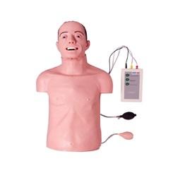 Simulador Torso Geriátrico para Treino de RCP e Intubação